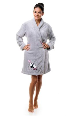 Анна Кристина халат женский на запах короткий карманы пояс софт8088