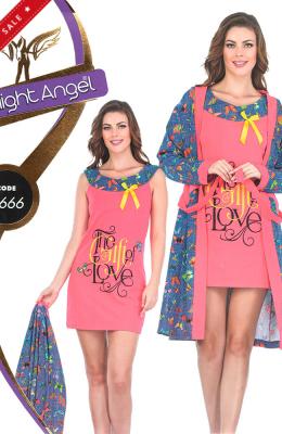 Комплект-двойка женский Pamuk Yildiz Night Angel 7666