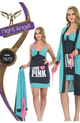 Комплект двойка женский Pamuk Yildiz Night Angel 7672