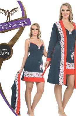 Комплект-двойка женский Pamuk Yildiz Night Angel 7675