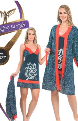 Комплект-двойка женский Pamuk Yildiz Night Angel 7677