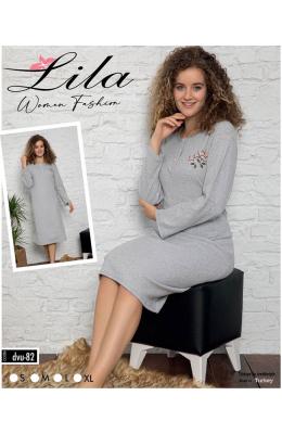 Ночная рубашка женская Lila 6082 серый