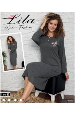 Ночная рубашка женская Lila 6083 т.серый